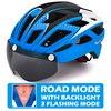 Victgoal capacete de bicicleta mountain bike, capacete de luz para ciclismo moldado integralmente à prova de vento com óculos de proteção 17