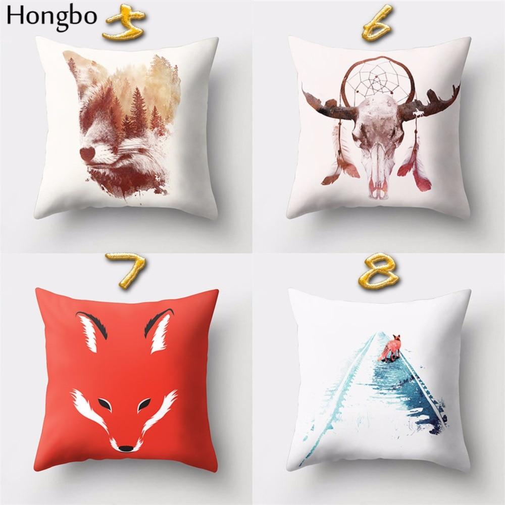Hongbo 1 Pcs Cat Box Golf Bird Fox Printed Pillow Case Cushion Cover Bed Pillowcase For Car Sofa Home Decor in Cushion Cover from Home Garden