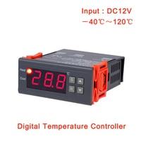 MH 1210A 40 120C Digital Thermostat AC 220V 12V 10A Digital Temperature Controller Regulator