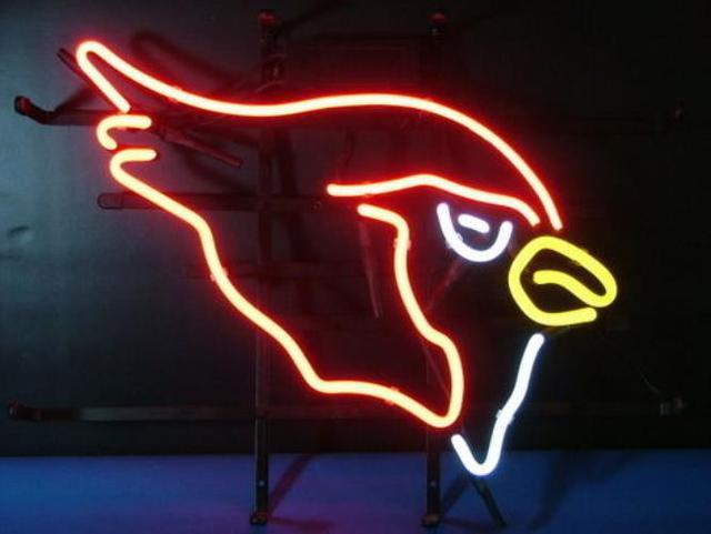 """Business Benutzerdefinierte NEON schild Für Fußball FÜHRTE Arizona Cardinals ECHT Glasrohr BIER BAR PUB Club Shop Licht Zeichen 15*14"""""""