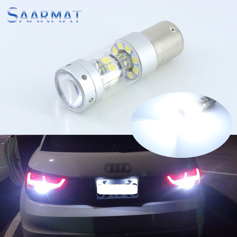 1Pcs 1156 White No Error Led Bulb  140W 1400LM For Tail Bulb Reverse Lamp Daytime Running Lights For AUDI BMW VW Mercedes-Ben 2 x 1156 for cree chips no error car led bulbs daytime running lights bulb for vw volkswagen jetta mk6 scirocco sharan seat