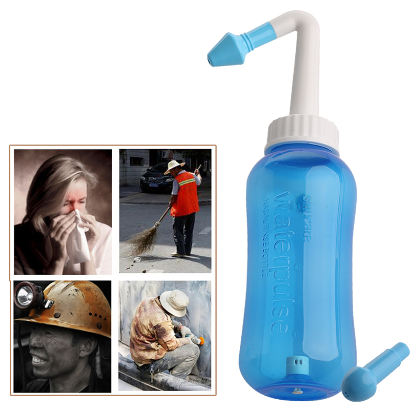 New Nose Wash System Sinus & Allergies Relief Nasal Pressure Rinse Neti Pot