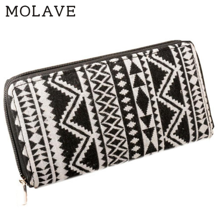 MOLAVE	wallets wallet female Solid coin purse Zipper	Women Tribal Printed Wallet Long Card Holder Handbag Bag Clutch Purse Feb19 simline fashion genuine leather real cowhide women lady short slim wallet wallets purse card holder zipper coin pocket ladies