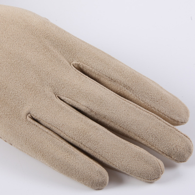 New Suede Sun Protection Gloves Male Female Summer Thin Short Style Anti-Slip Driving Gloves Sweat Absorption Mittens SZ008W 3