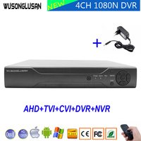 XMeye 4CH AHD видеорегистратор Регистраторы 1080 P 960 P 720 P 960 H Hi3520D 4 канала 1080N 6 в 1 Гибридный Wi-Fi XVI TVi CVI IP NVR CCTV Камера