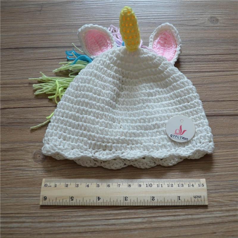 Nieuwigheid Pasgeboren Paard Kostuum Handgemaakte Brei Haak Baby