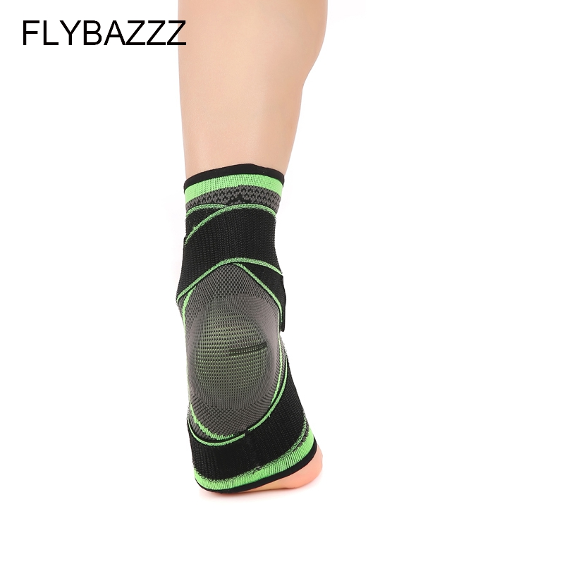 FLYBAZZZ 3D Weaving Elastic Nylon Strap Ankle Support Brace Badminton Basketball Football Taekwondo Fitness  Gym Heel Protector (3)