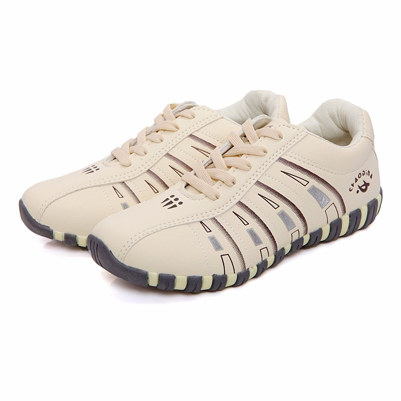 KUYUPP Fashion Breathable Leather Women Casual Shoes Lace Up Woman Trainers Outdoor Women Low Toe Shoes Zapatillas Mujer YD122 (20)