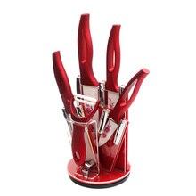XYJ Marke Roten Messer Halter + 3, 4, 5, 6 Zoll Keramikmesser + Peeler Kochwerkzeug Heiße Verkäufe Gute Qualität Keramik Küchenmesser