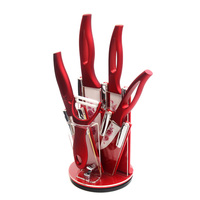 XYJ Brand Red Knife Holder 3 4 5 6 Inch Ceramic Knives Peeler Cooking Tools Hot