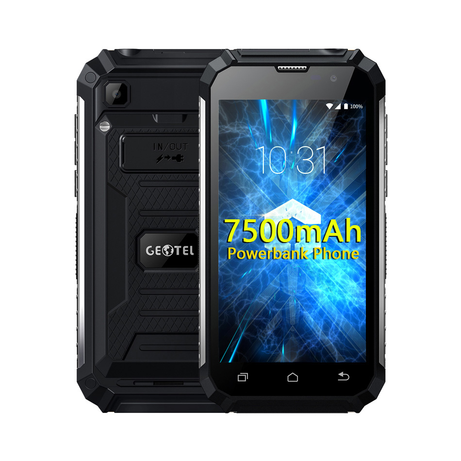 "Original Geotel G1 7500mAh Power Bank Mobile Phone 5.0""FHD Andriod 7.0 MTK6580A Quad Core 2GB RAM 16GB ROM 3G WCDMA 8MP Camera"
