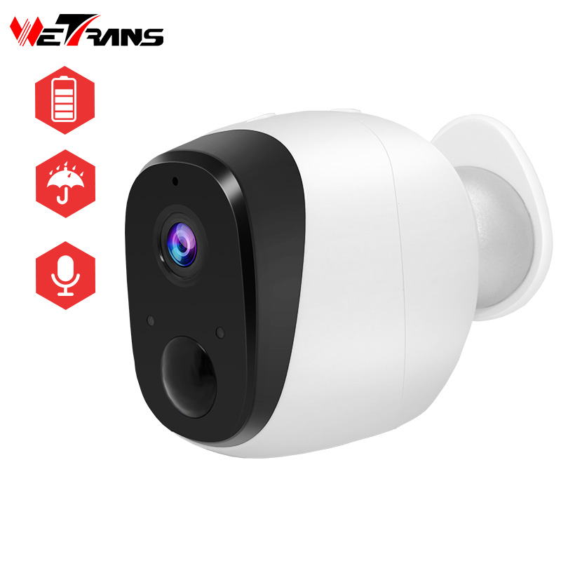 Wetrans Security Wifi Camera IP 720P HD Wireless Wi-Fi Battery Camera CCTV Home Surveillance Waterproof Night Vision PIR Detect