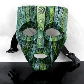 """1 pz Vintage Jim Carrey """"LA MASCHERA"""" Movie Loki Maschera La Maschera di Dio del Male di Travestimento Replica di Halloween Cosplay oggetti di scena"""