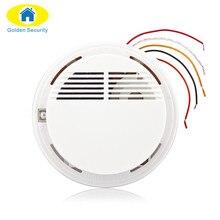 Oro Tester Sensor Smoke Alarm Detector de Incendios Con Cable de Seguridad Para El Hogar Sistema de Seguridad NUEVO Producto Detector de Humo Alarma de Incendio