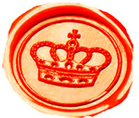 Vintage Imperial Crown Custom Picture Logo Wedding Invitation Wax Seal Sealing Stamp Sticks Spoon Gift Box