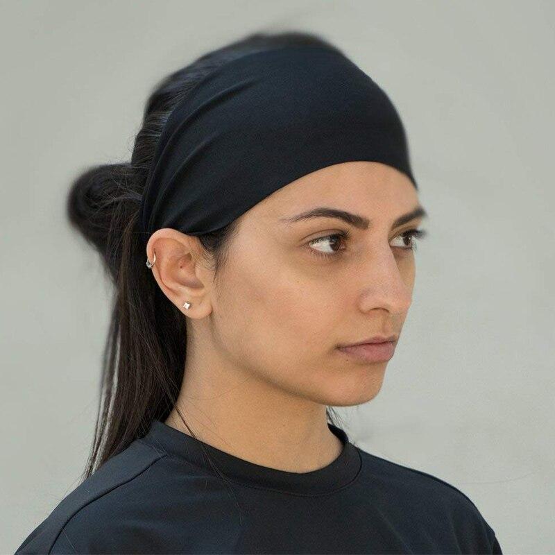 ... Men Sports Safety Sweatband Women Yoga Athletic Workout Headband Hair  Band Running Basketball Boxing Fitness Wicking ... c55f9d87e17