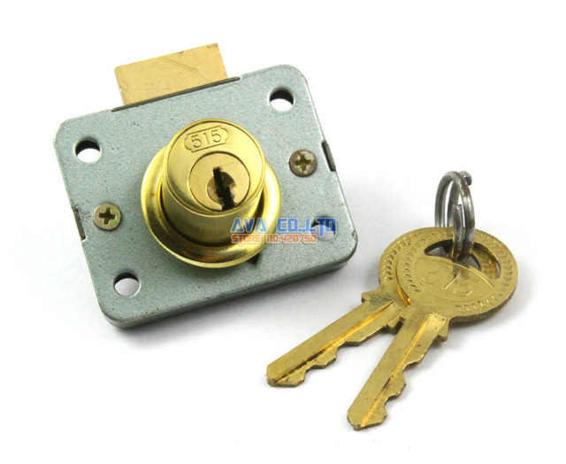 2 Pieces Cylinder Head Metal Furniture Desk Drawer Lock W 2 Keys