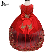 KEAIYOUHUO Girls Dress Children Clothing Summer Sleeveless Birthday Dresses For Girls Vestidos Party Clothes Costume For