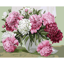 Bloom Flowers DIY Painting By Numbers Kits Paint On Canvas With Wooden Frame For Home Wall Deocr Gift
