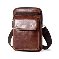 Threebox Brand Men Bag Shoulder Vintage Male Real Genuine Leather Sling Crossbody Bags Small Flap Satchel Handbag Mrt8328