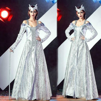 2018 New Snow Queen costume vestidos medievais women period costumes gowns dress princess dress adults cosplay
