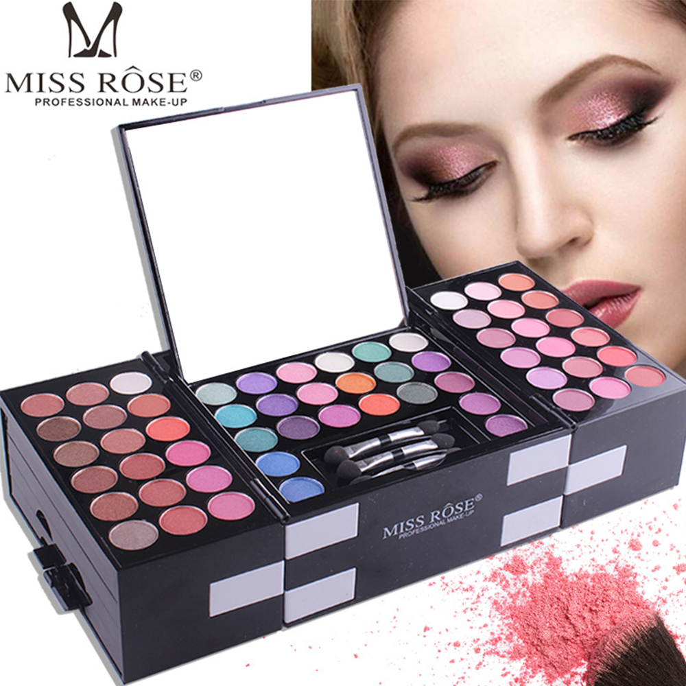 Miss Rose Matte Eyeshadow Make Up Palette Professional 144 Color Eye Shadow Eyebrow Powder Blush Combination Makeup Set Kit professional make up 144 color eye shadow 3 color blush 3 color eyebrow powder makeup set box