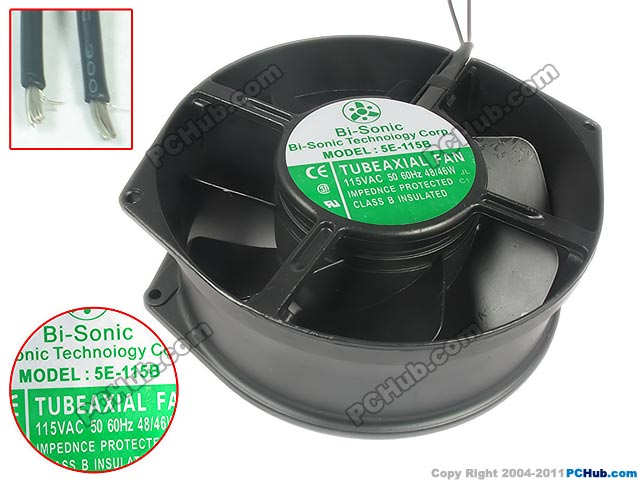 Emacro For Bi-Sonic 5E-115B DC 115V 48W 170x150x55mm Server Round Fan emacro for comair rotron pt2b3qdn server round fan ac 115v 30w 172x172x51mm
