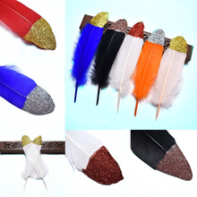 wholesale Crafts Feathers Spray Gold Silver Goose feather 15-20CM colorful feathers for DIY Home party Wedding plumes Decoration