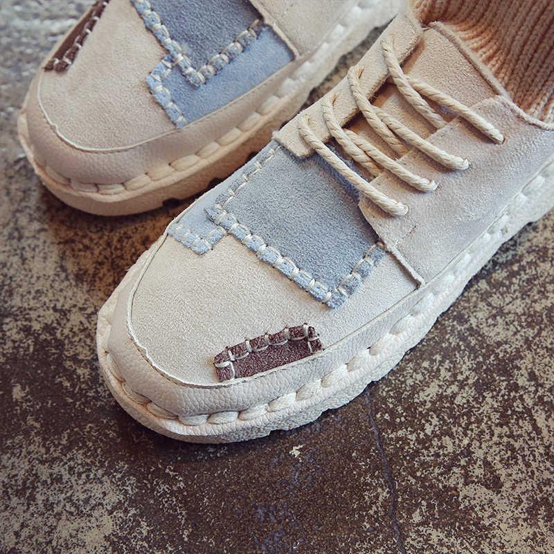 HQFZO Çorap Eğitmen Pantolon Akın kadın Platformu Flats Sneakers Açık Kadın Ayakkabı Nefes Rahat kadın ayakkabısı