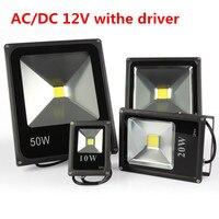 Для студийной фотосъемки светодиодный прожектор, 10 Вт, 20 Вт, 30 Вт, 50 Вт, черного цвета, DC12V водонепроницаемый IP65, прожектор, точечный светильни...