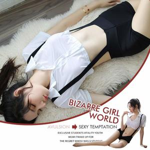 Image 2 - ملابس داخلية مثيرة شقية للطالبات ملابس داخلية مثيرة سراويل بحمالات مع قميص ملابس داخلية بيضاء