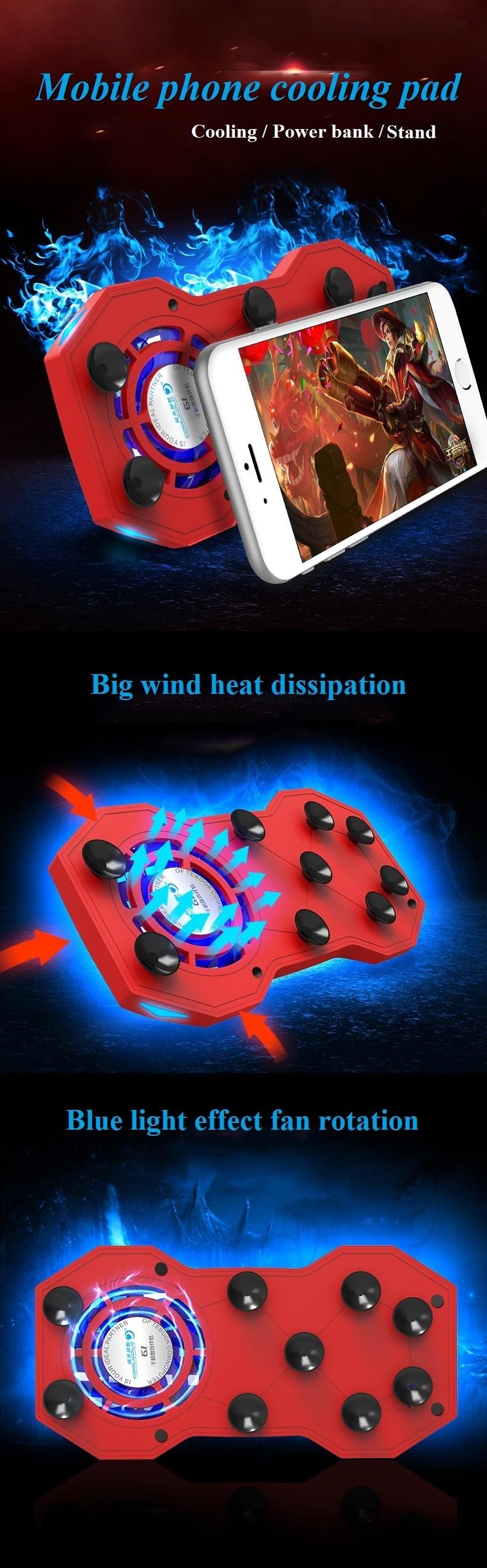 Coolcold G1 Handy Cooling Pad Mute Gaming Kühler Kühler Fans Mit Ring Halter Stand Tragbare Aufladbare Power Bank Laptop Kühlkissen Aliexpress