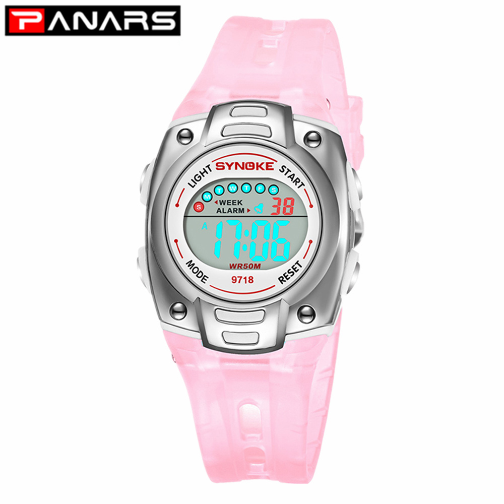 PANARS Children Watches Sports Multi Function Waterproof Clock Led Digital Kids Wristwatch Clock For Boys Girls Students Gift