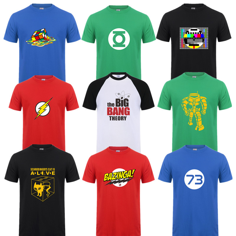 Adatti a Nuovo Sheldon Cooper Penny Uomo Maglietta di Estate manica Corta The Big Bang Theory T-Shirt In Cotone Cooper Logo Uomo T-Shirt Top