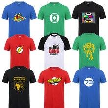 Fashion New Sheldon Cooper Penny Men T Shirt Summer Short sleeve The Big Bang Theory T-shirt Cotton Cooper Logo Men T-shirt Tops