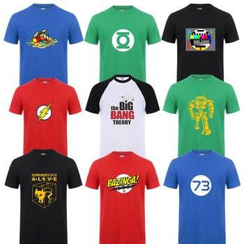 Moda nowy Sheldon Cooper Penny mężczyzna T koszula lato krótki rękaw teoria wielkiego podrywu koszulka bawełniana Cooper Logo męska koszulka topy tanie i dobre opinie tops Z KRÓTKIM RĘKAWEM short Drukuj omnitee Z okrągłym kołnierzykiem COTTON Na co dzień