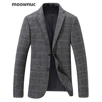 moownuc new arrival Blazers  2019 mens single-breasted suits blazer skinny autumn Collar suit fashion jackets Coats for man