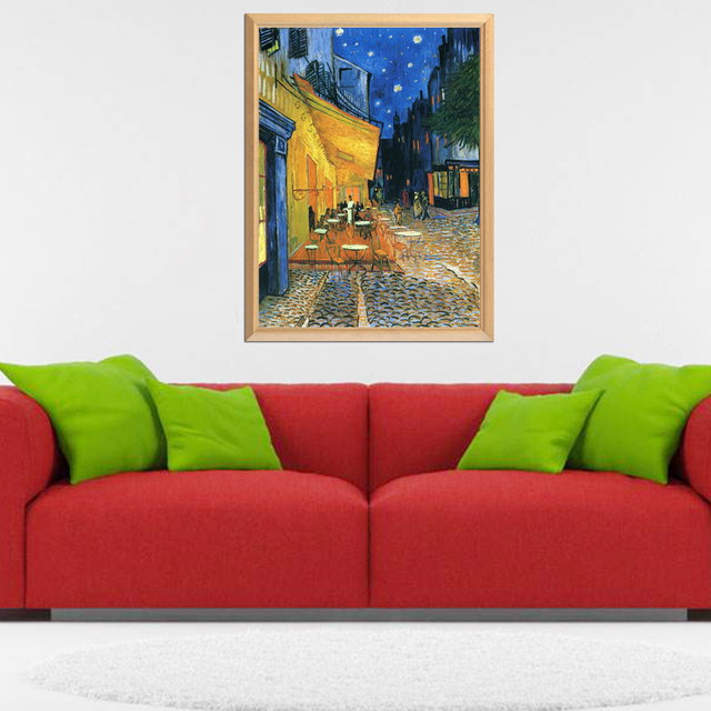 Van Gogh Famous Cafe Terrace at Night 5D DIY Diamond Painting Full Square Round Diamond Embroidery