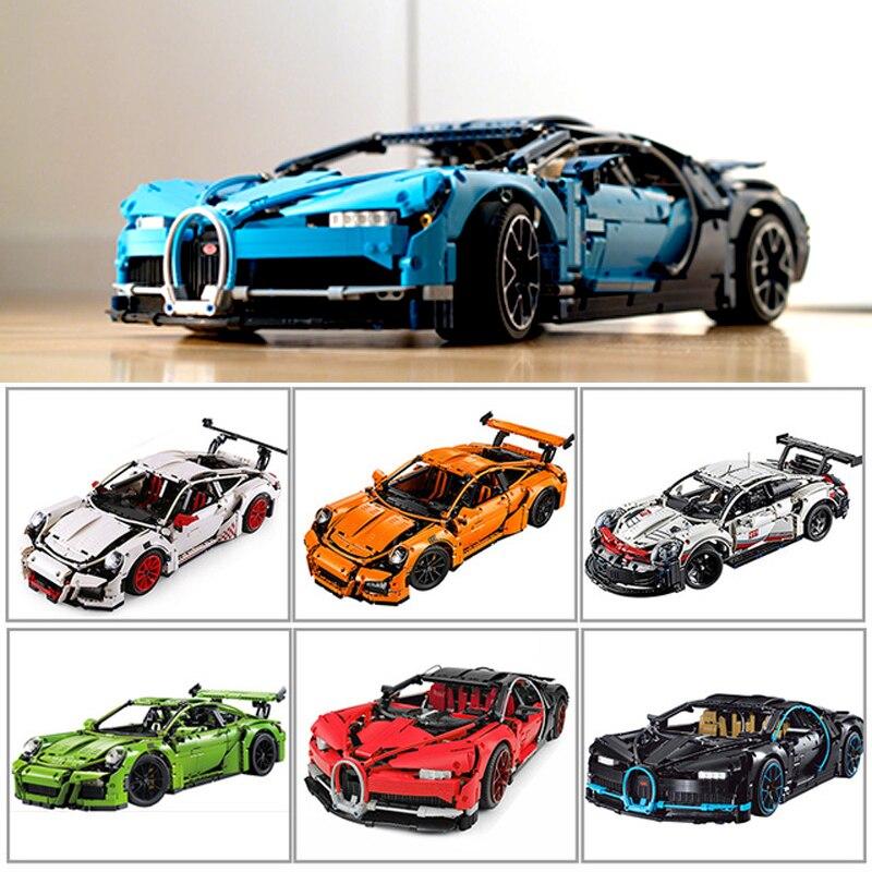 Décool 20001 20086 Compatible LegoSet Technic Volture 42083 42056 Bugatti Chiron course voiture blocs de construction briques jouets cadeaux