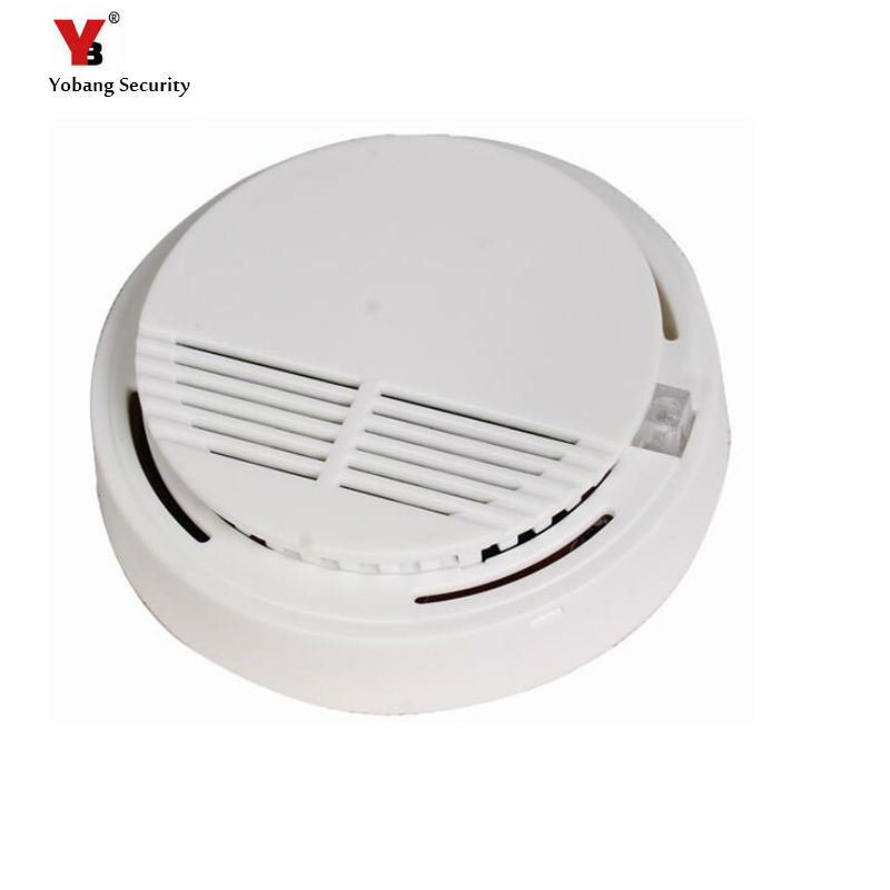 Yobang Security Independent Photoelectric Smoke Detector Fire Smoke Alarm Sensor For Home Safety Garden Security yobangsecurity high sensitivity photoelectric smoke detector fire alarm sensor for home security independent smoke sensor white