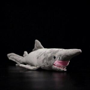 Image 1 - ยาว 66 ซม.เหมือนจริง Goblin Shark ตุ๊กตาของเล่น Super นุ่มสมจริงสัตว์ทะเล Elfin Shark Plush ของเล่นสำหรับเด็ก