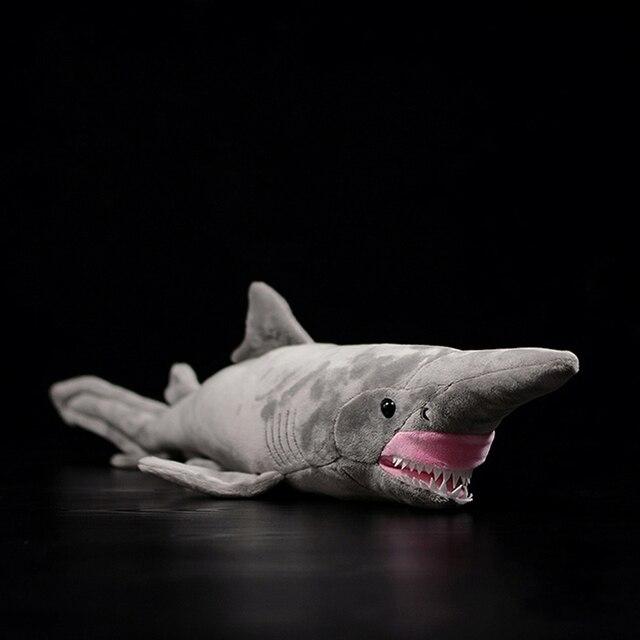66 centimetri Lunghi Realistica Goblin Squalo Farcito Giocattoli Super Morbido Realistico Mare Animali Elfin Shark Peluche Giocattolo Per I Bambini