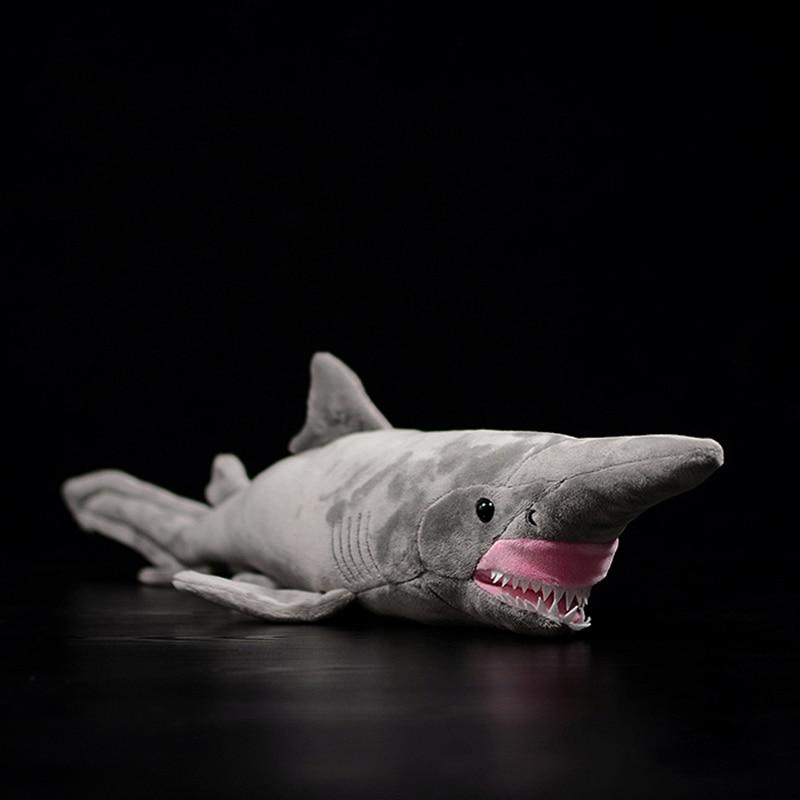 66cm Long Lifelike Goblin Shark Stuffed Toys Super Soft Realistic Sea Animals Elfin Shark Plush Toy For Kids
