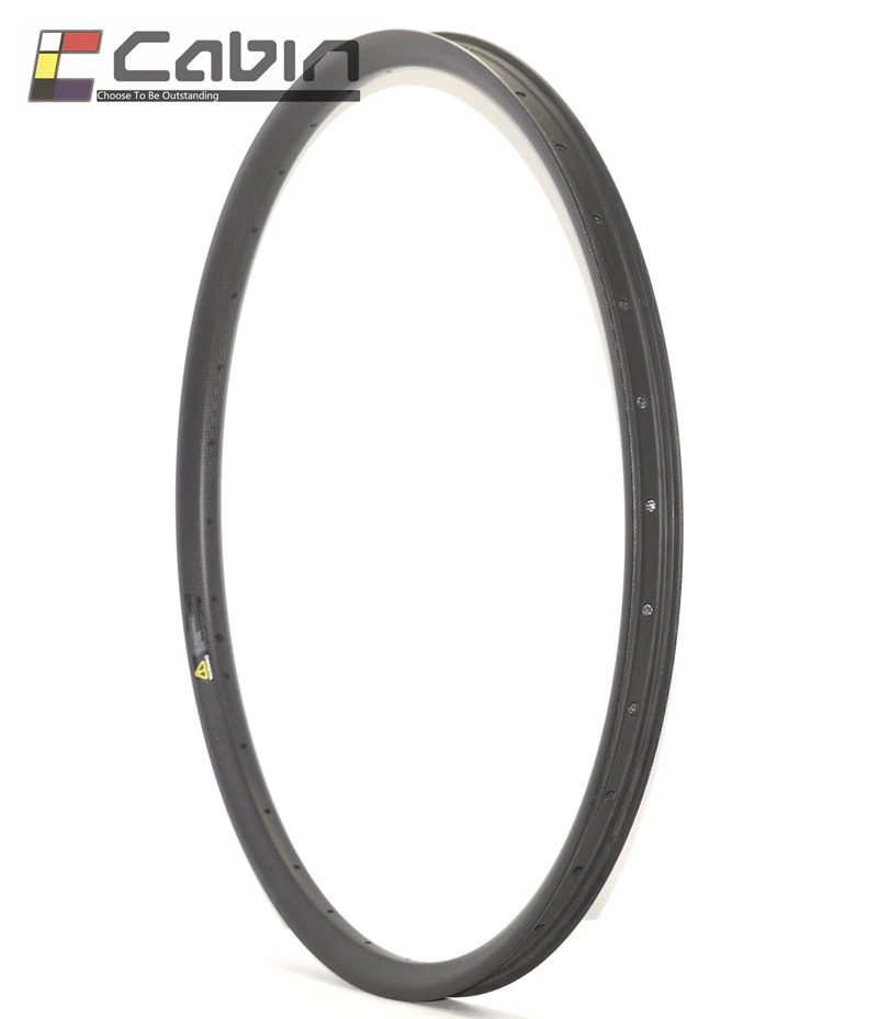 NEW arrival Asymmetrical 27.5inch/650b Mountain Bike Carbon Rims MTB AM/DH Rims Hookless Tubeless compatible 23