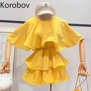 Korobov Korean Ruffles Women Chiffon Blouse Shirt Female