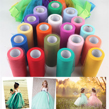 Tulle Roll Width15cm 25Yards Wedding Decoration Spool DIY Fabric Decorative Crafts Christmas Kids Queen Skirts