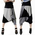 Calças mulheres 2016 Moda Personalidade Mulheres Soltas Harem Pants Plus Size Calças Hop Dance Baggy Trousers Emenda