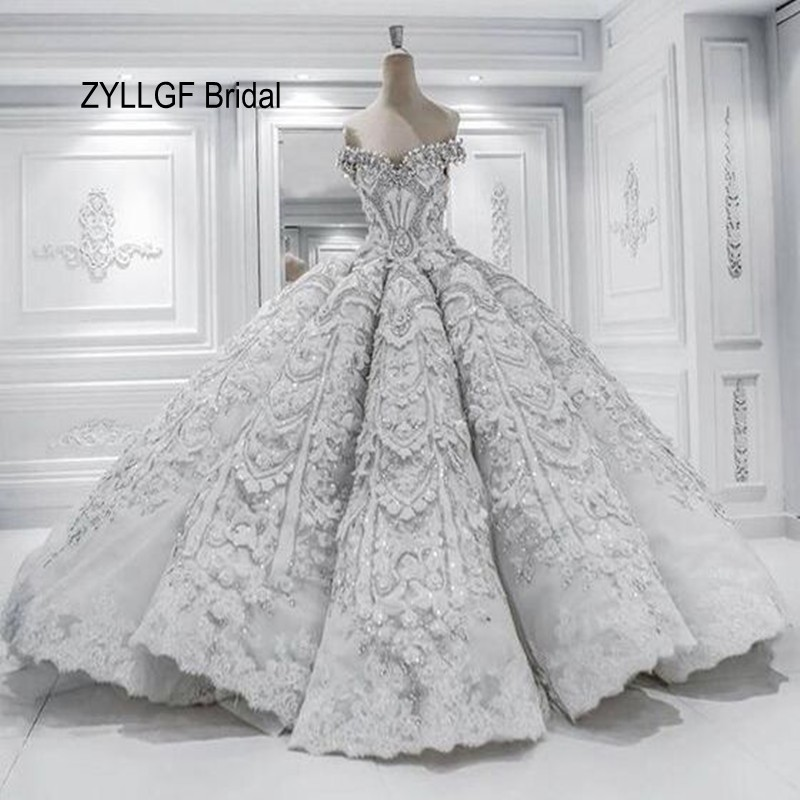 ZYLLGF Bridal 2017 Expensive Wedding Dresses Fluffy Sweetheart Off ...