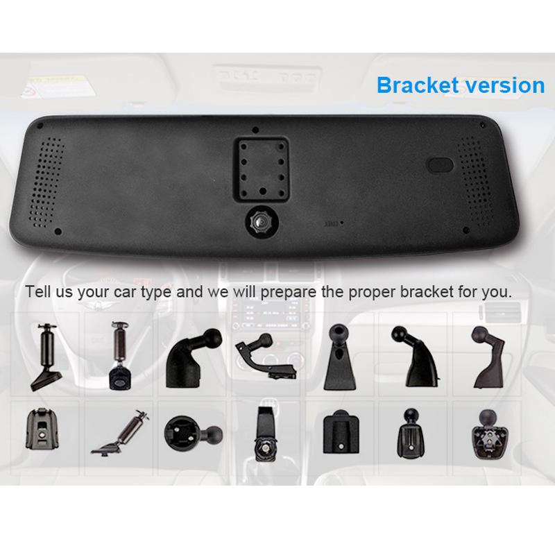 JC600 1080P 3G Android Mirror Camera Bracket Version with WCDMA Dual-Band for Europe & Optional for HD Rearview Camera & TF Card