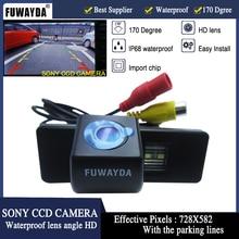 Fuwayda sony ПЗС Автомобильная камера заднего вида для Citroen C4/C5/C-Triomphe/c -quatre, peugeot 307/307cc/308cc/1007 HD